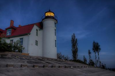 Point Betsie Lighthouse at Night