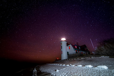 Stars over Point Betsie Lighthouse