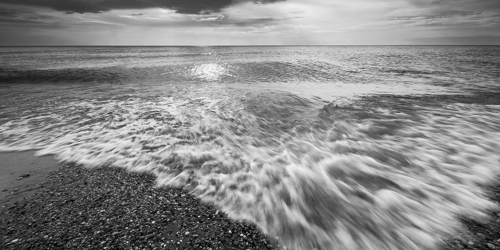 Point Betsie Surf in Black and White