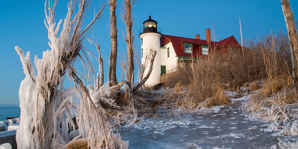 Winter Dusk at the Lighthouse