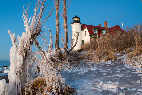 Ice in Early Winter at Point Betsie