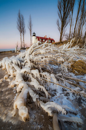 Point Betsie in January