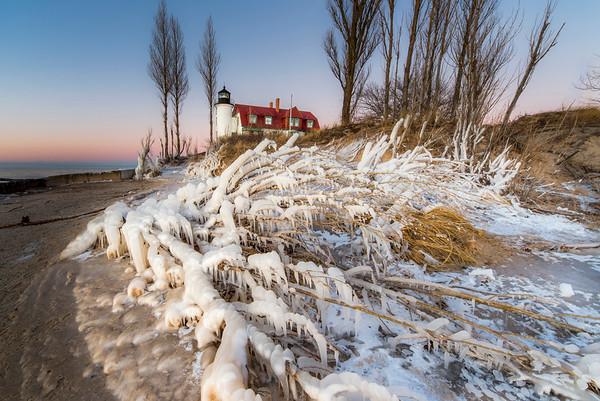 Winter Shore at Point Betsie
