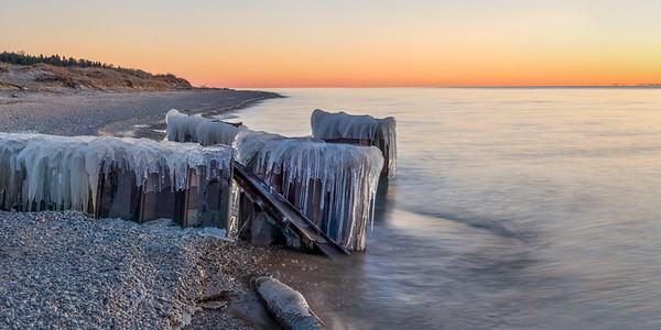 Icy Walls on Lake Michigan
