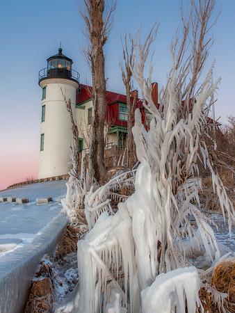 Winter Ice at Point Betsie
