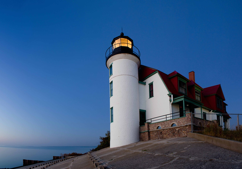 Point Betsie Lighthouse in Evening