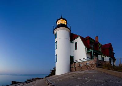 Point Betsie Lighthouse in Evening