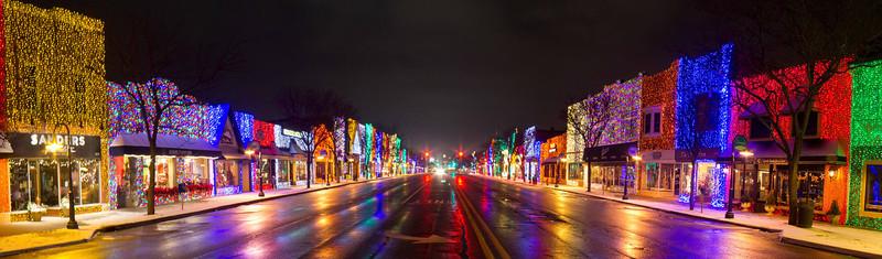 Main Street at Christmas, Rochester, Michigan