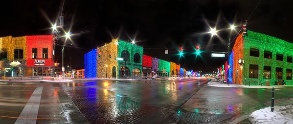 Main Street Lights at Christmas