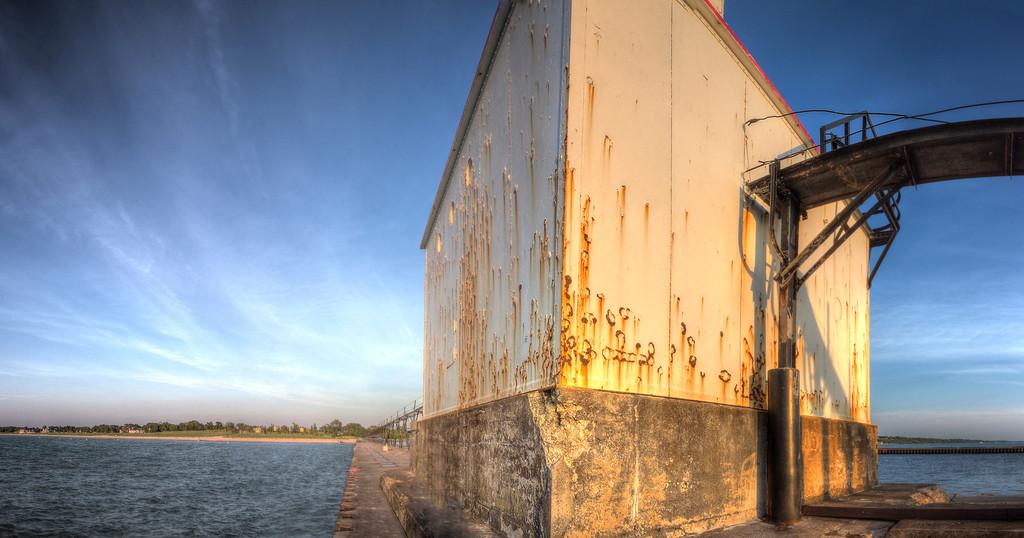 Base of Lighthouse, St. Joseph, Michigan