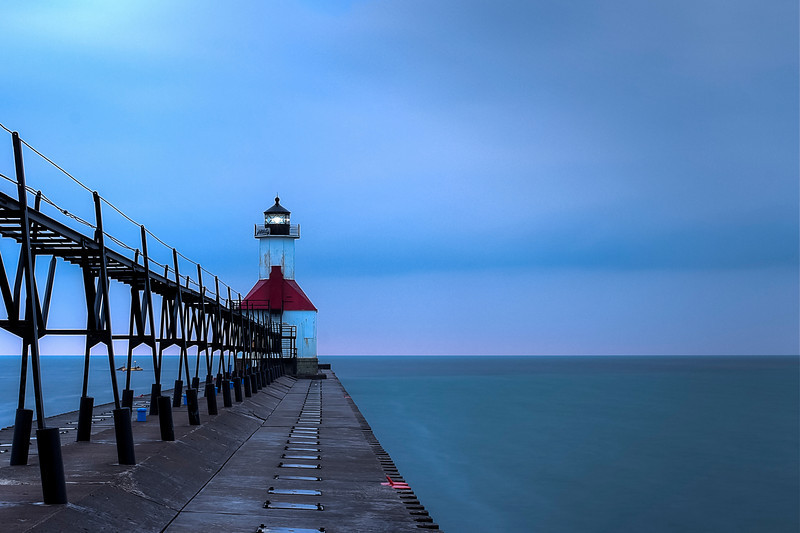 Evening at the Pier, St. Joseph