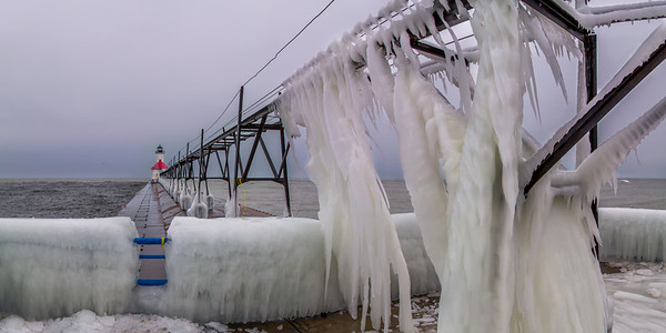 Icy Pier in St. Joseph