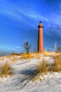 Winter Dunes at Little Sable Lighthouse