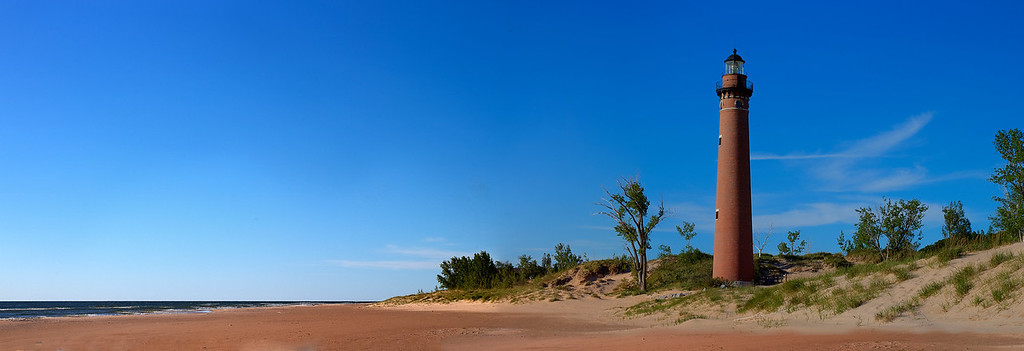 Panorama of Little Sable Lighthouse