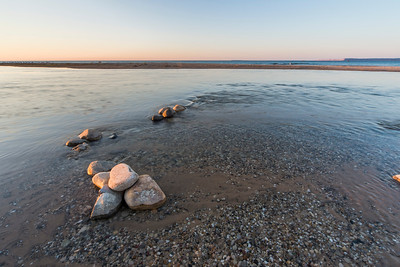 Platte River Mouth at Sunset