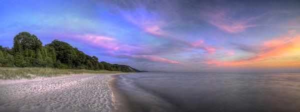 Lake Michigan Sunset Panorama