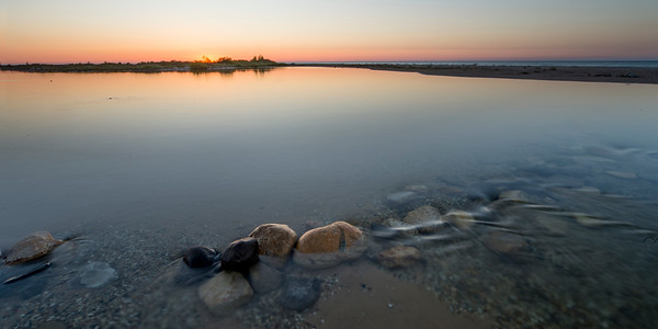 Platte River Sunset 2x1 Panorama