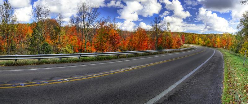 Fall along M-22