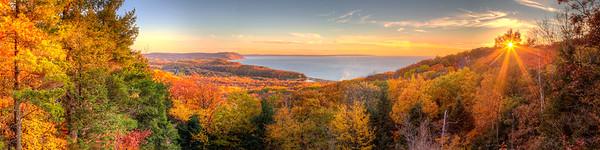 Fall Sunset in Sleeping Bear Dunes