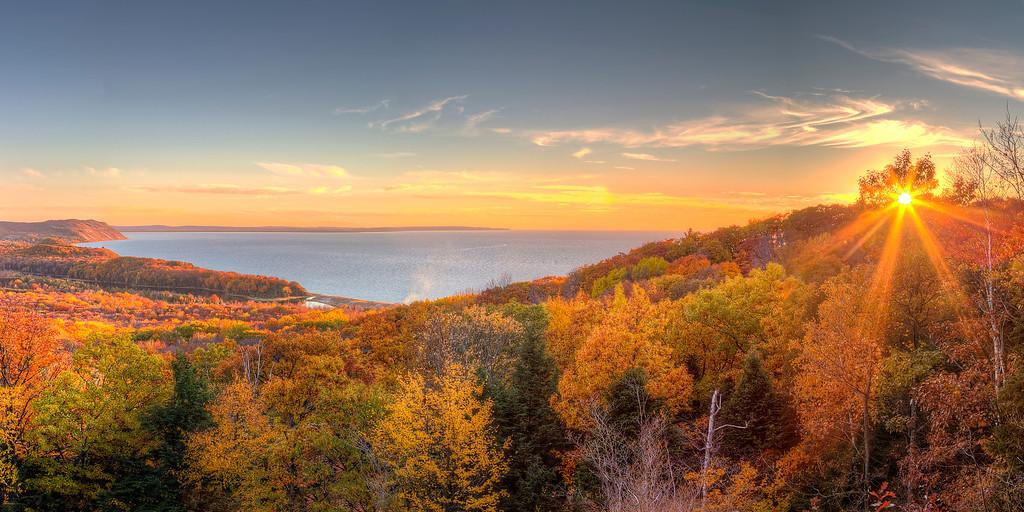 Sunburst in Fall, Sleeping Bear Dunes