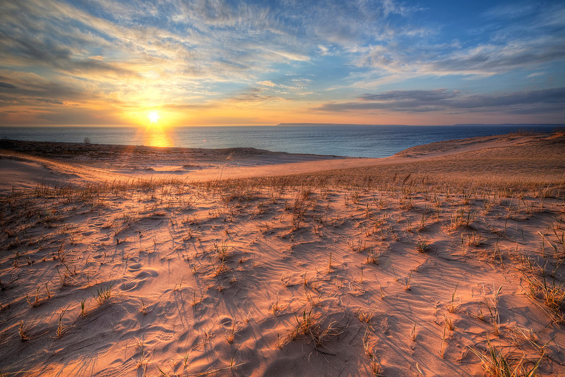 Spring Sunset in the Dunes