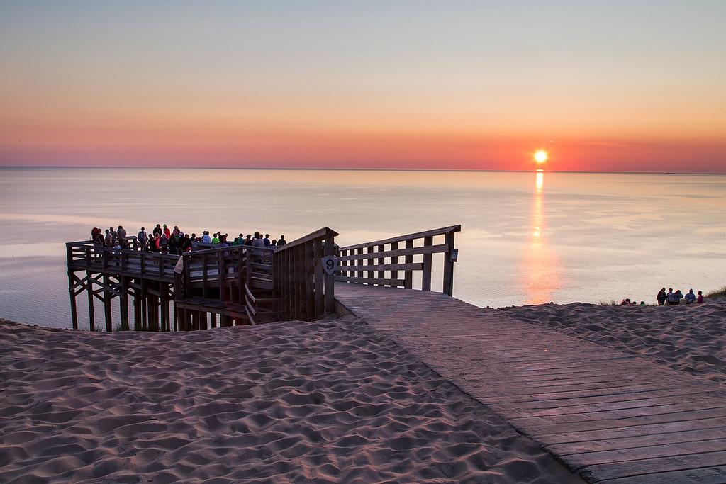 Crowds at Sunset, Sleeping Bear Dunes