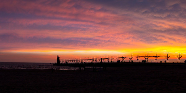South Haven Light at Dusk