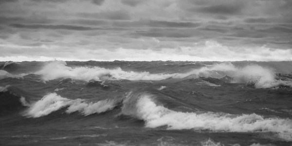 Stormy Waters in Black and White (panorama)