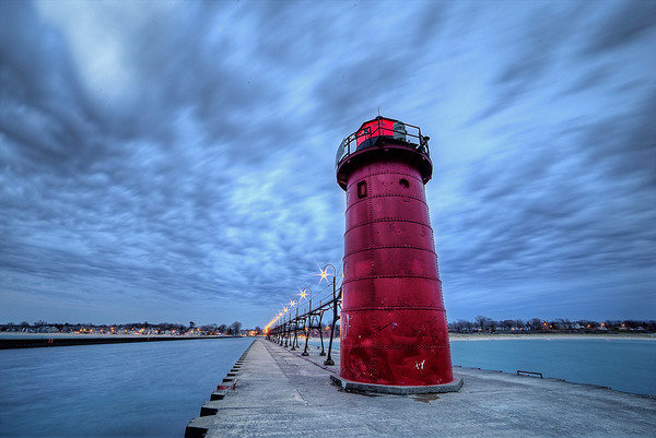 Cloudy Night in South Haven