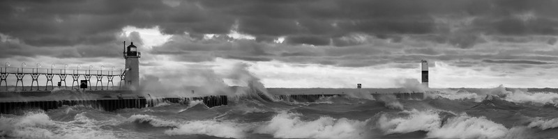 Storms at South Haven (B & W)