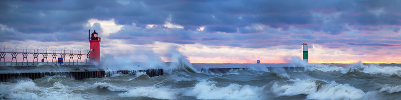 Storms at South Haven (panorama)
