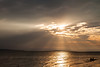 Cloudy sunrise over Lake Huron. Mackinaw City, MI<br /> <br /> MI-110707-0210