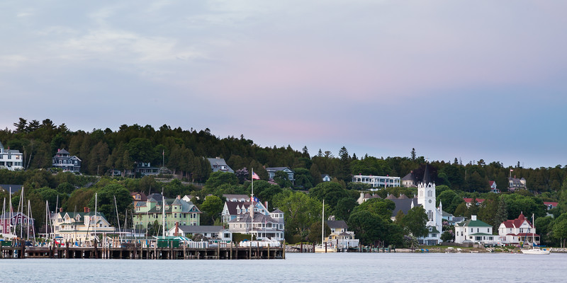 Early morning light shines over Mackinac Island. Mackinac Island, MI<br /> <br /> MI-090624-0086