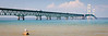 View of the Mackinac Bridge from Mackinaw City. Mackinaw City, MI<br /> <br /> MI-090623-0011