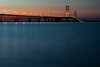 View of the Mackinaw Bridge at dusk. Mackinaw City, MI<br /> <br /> MI-110708-0457