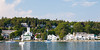 View of Mackinac Island from the waters of Lake Huron. Straits of Mackinac, MI<br /> <br /> MI-090623-0040