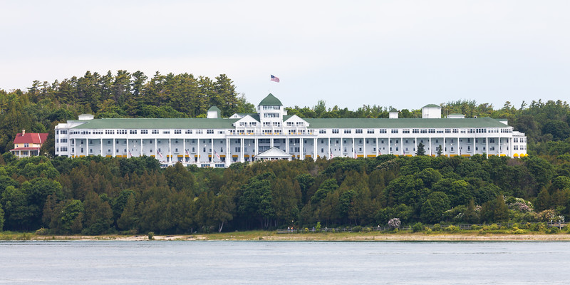 Grand Hotel as seen from Lake Huron. Mackinac Island, MI<br /> <br /> MI-090625-0007
