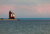 Round Island Lighthouse during sunset. Round Island, MI<br /> <br /> MI-090624-0067