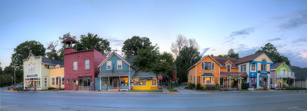 Shops in Sutton's Bay, Michigan