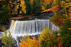 The Upper Tahquamenon Falls with fall foliage color near Newberry, Michigan, USA.