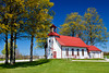 The historic Maple Grove School on the OLd Mission Peninsula, Michigan, USA,