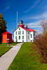 The Grand Traverse Lighthouse near Northport on the Leelanau Peninsula, Michigan, USA.