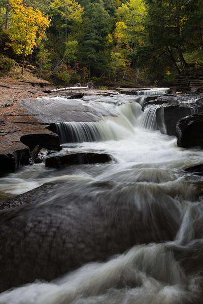 Presque Isle River Waterfall
