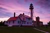 Sunset sky over the Whitefish Point lightstation. Paradise, MI<br /> <br /> MI-110705-0267