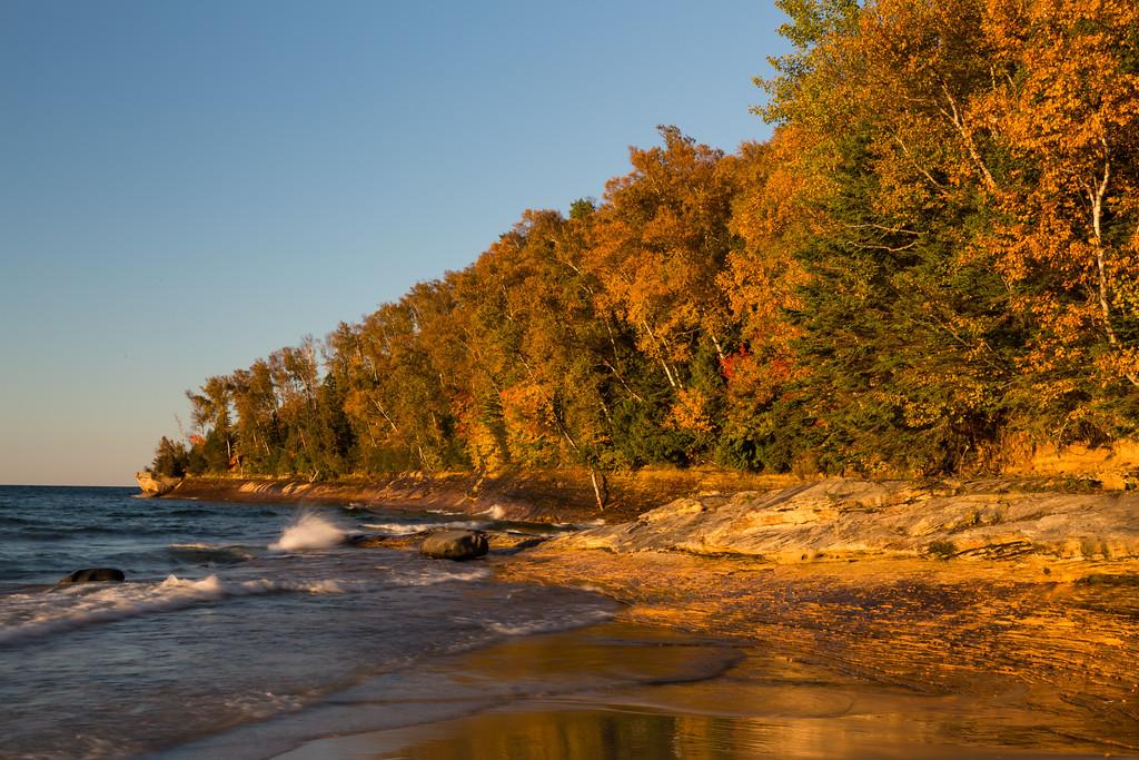 Miners Beach lakeshore. Picture Rocks National Lakeshore, MI<br /> <br /> MI-120929-0196