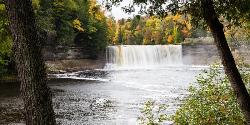 The Tahquamenon River drops fifty feet as it flows down the falls. Chippewa County, MI<br /> <br /> MI-110930-0274