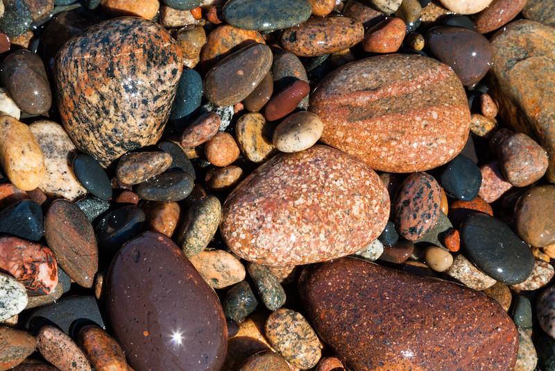 Lake Superior shore rocks. Paradise, MI<br /> <br /> MI-110706-0126