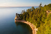Late evening light shines on Miner's Castle. Picture Rocks National Lakeshore, MI<br /> <br /> MI-090621-0080-1