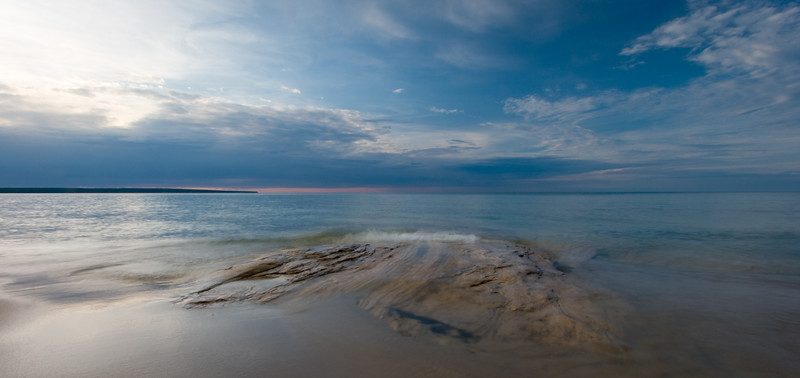 Late evening light on Miners Beach. Pictured Rocks National Lakeshore, MI<br /> <br /> MI-080925-0123