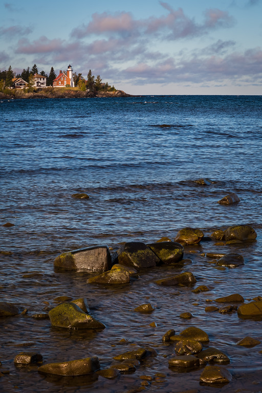 View of the Eagle Harbor lighthouse from across the harbor entrance. Eagle Harbor, MI<br /> <br /> MI-120929-0069